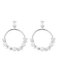 Jon Richard silver hoop earring