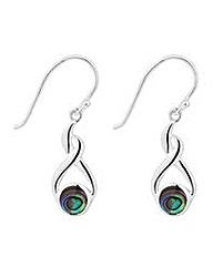 Simply Silver abalone twist drop earring
