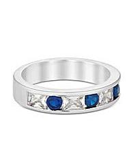 Jon Richard Cubic Zirconia Sapphire Ring
