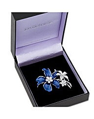 Jon Richard Blue Flower Enamel Brooch