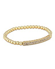 Jon Richard Pave Bar Beaded Bracelet