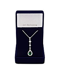 Jon Richard Emerald Pave Pearcut Pendant