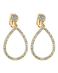 Jon Richard Pave Crystal Clip Earring
