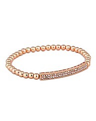Jon Richard Rose Gold Pave Bead Bracelet