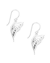 Simply Silver Polished Butterfly Earring