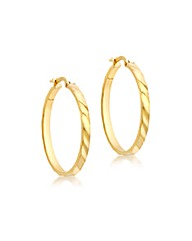 9ct Gold Square Tube Creole Earrings