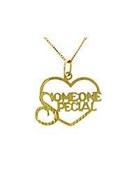 9ct Gold Heart Someone Special Necklace