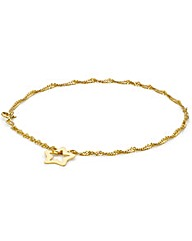 9ct Gold Twist chain and Star Bracelet