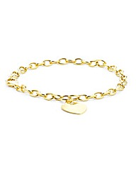 9ct Gold Heart Tag Bracelet