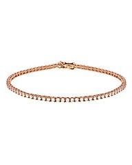 9CT Red Gold Round Tennis Bracelet