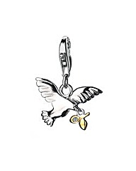 Hot Diamonds Peace & Dove Charm