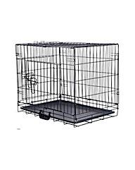Medium Pet Cage and Mat Black