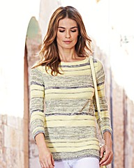 Stripe Cotton-Mix Sweater