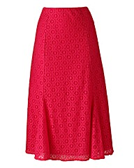 Lace-Detail Skirt Length 29in