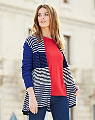 Stripe Swing Cardigan