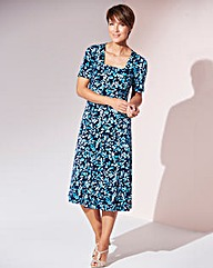 Print Square Neck Jersey Dress L43