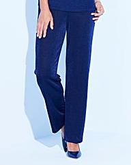 Classic Leg Slinky Trousers Length 27in