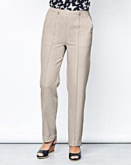 Textured Pull On Trouser 29in