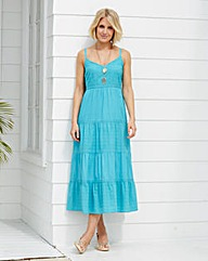 Cotton Broderie Summer Maxi Dress