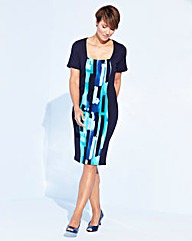 Jersey Panel Illusion Dress