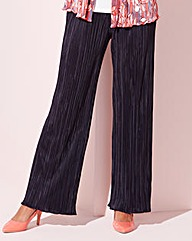 Plain Plisse Trousers