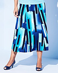 Textured Print Skirt