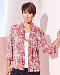 Plisse Floral Kimono
