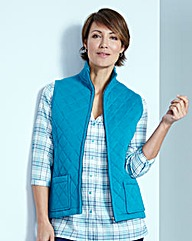 Quilted Jersey Gilet