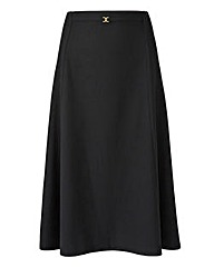 Ribbed Jersey Skirt with Snaffle Detail