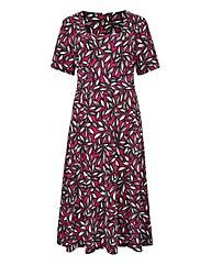 Print Square-Neck Jersey Dress L43