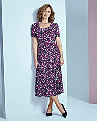 Print Square-Neck Jersey Dress L48