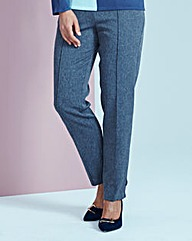 Herringbone Pull-On Trouser Short