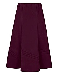 Pintuck Moleskin Skirt L29in