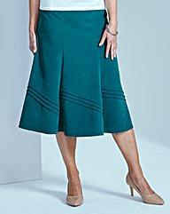 Pintuck Moleskin Skirt L29in