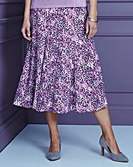 Print Slinky Skirt Length 29in