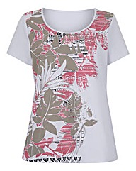 Print T-Shirt with Short-Sleeves