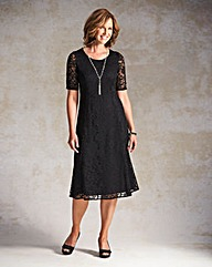 Lace Dress with Necklace