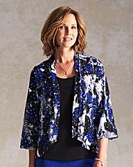 Glitter Print Jersey Kimono
