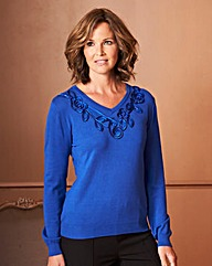 Cornelli Trim Sweater