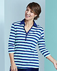 Stripe Rugby Jersey Top