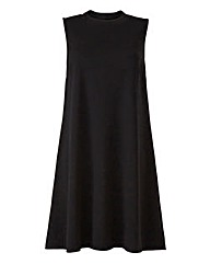 Black High Neck Sleeveless Swing Dress