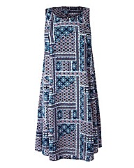 Sleeveless Swing Dress - Blue Print
