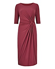 Damson Twist Knot Front Dress