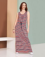 Multi Stripe Jersey Holiday Dress