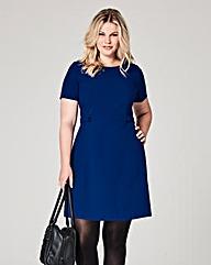 Bright Blue Crepe Shift Dress
