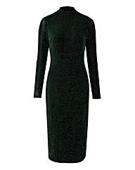 Glitter Jersey Midi Dress