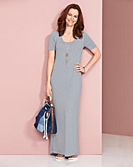 Jersey Holiday Dress - GREY MARL