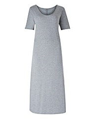 Grey Marl Jersey Maxi T-shirt Dress