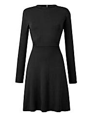 Black High Neck Babydoll Dress