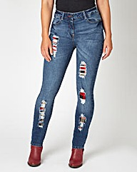 Joe Browns Tartan Trim Jeans
